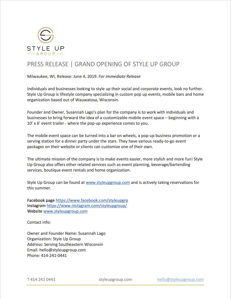 Press Release, June 2019