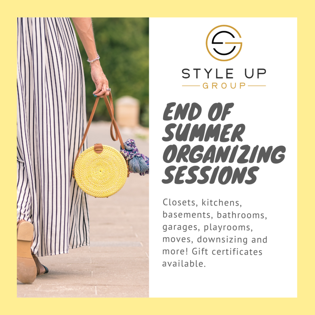 End of Summer Organizing Sessions